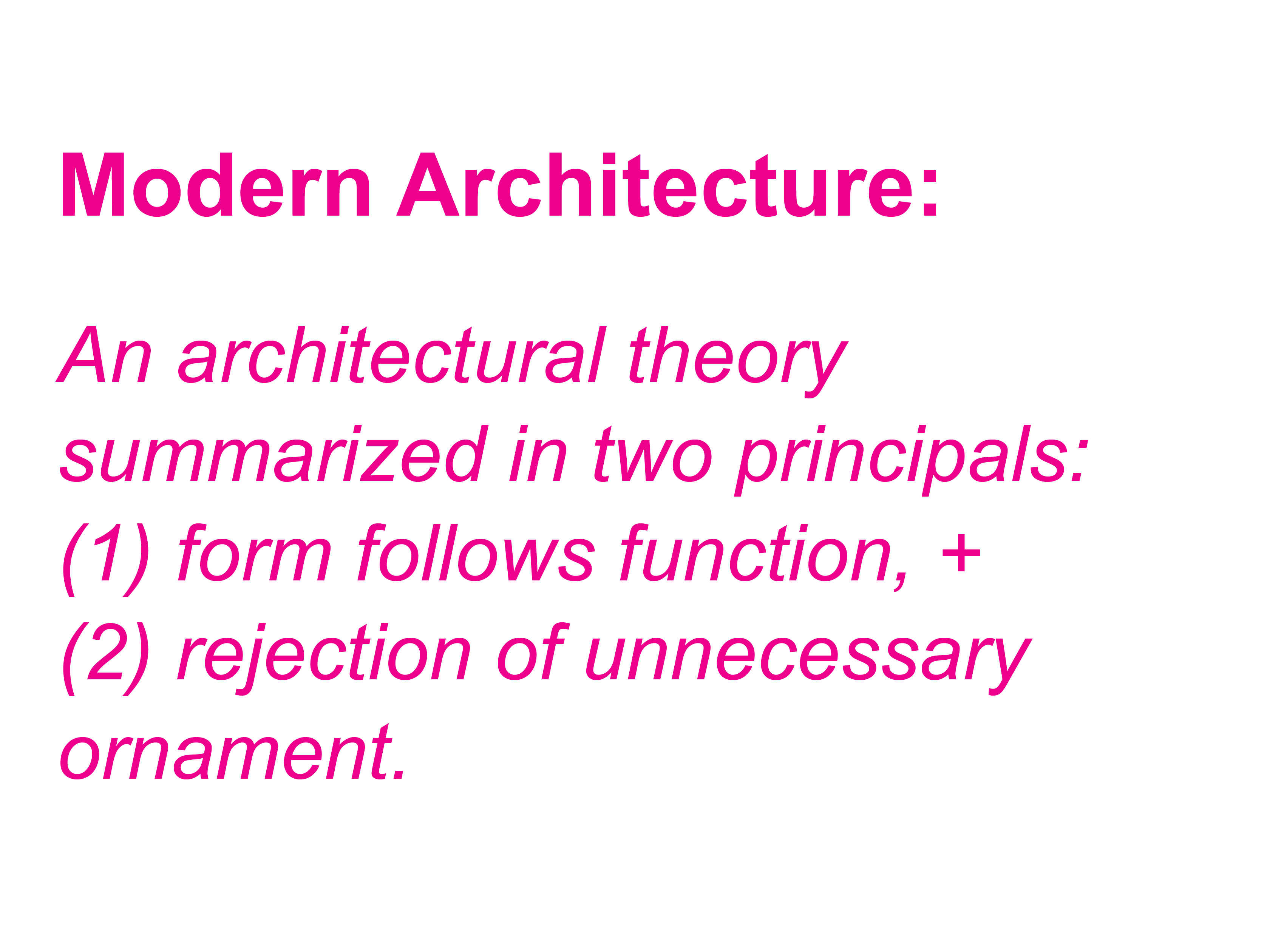 Modern Architecture Font